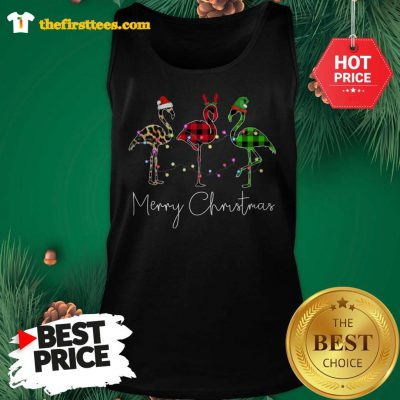 Official Three The Bird Santa Merry Christmas Tank Top - Design by Thefristtees.com