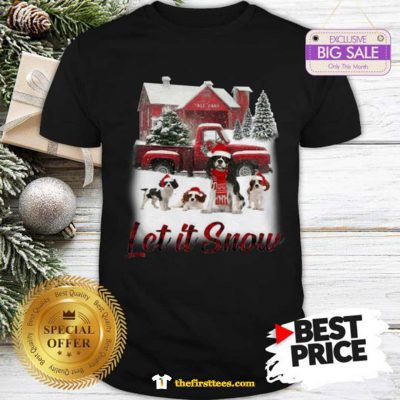 Pretty Cavalier King Charles Spaniel Let It Snow Christmas Shirt - Design by Thefristtees.com