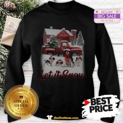 Pretty Cavalier King Charles Spaniel Let It Snow Christmas Sweatshirt - Design by Thefristtees.com