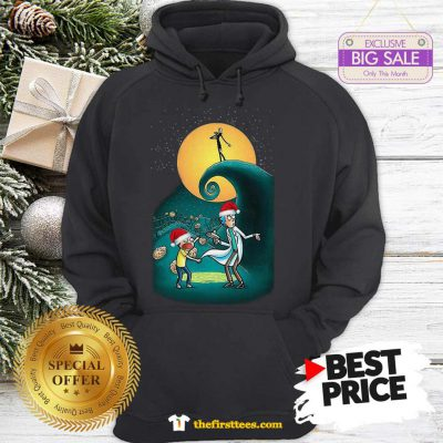 Pretty Rick And Morty Nightmare Before Christmas Hoodie - Design by Thefristtees.com