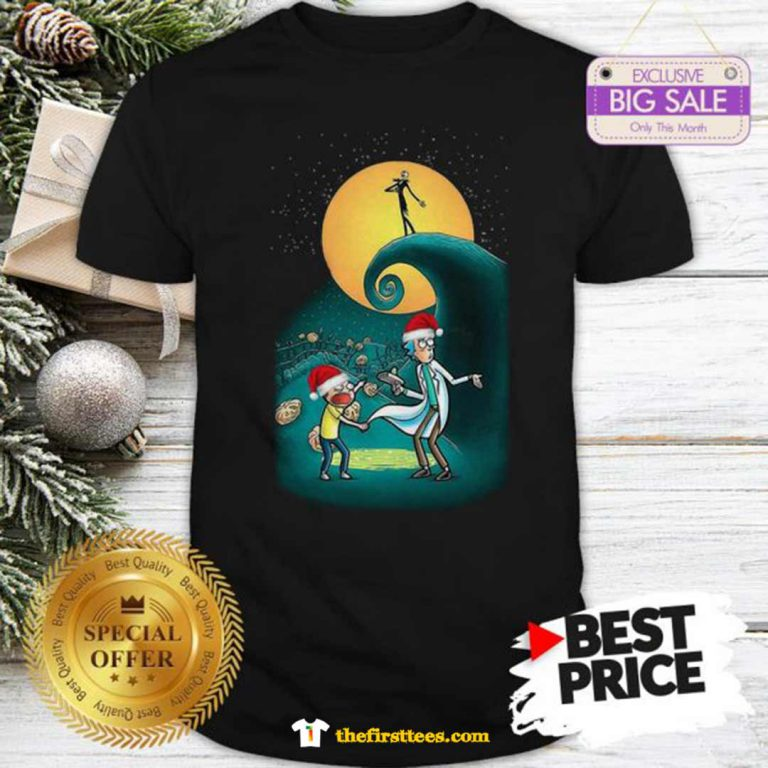 Pretty Rick And Morty Nightmare Before Christmas Shirt - Design by Thefristtees.com
