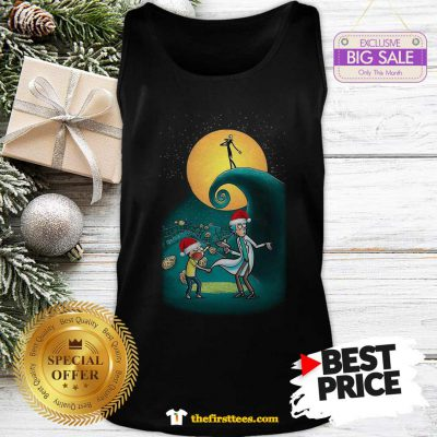 Pretty Rick And Morty Nightmare Before Christmas Tank Top - Design by Thefristtees.com