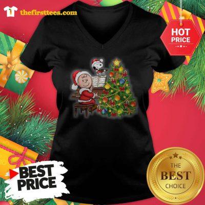 Santa Laugh Baby Boy Merry Christmas V-neck - Design by Thefristtees.com