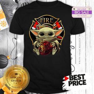 Star Wars Baby Yoda Hug Firefighter Captain Shirt