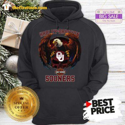 Top Eagle Harley Davidson Oklahoma Sooners Hoodie- Design by Thefristtees.com