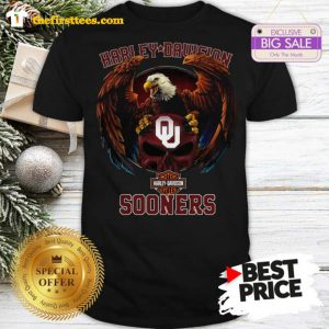 Top Eagle Harley Davidson Oklahoma Sooners Shirt- Design by Thefristtees.com