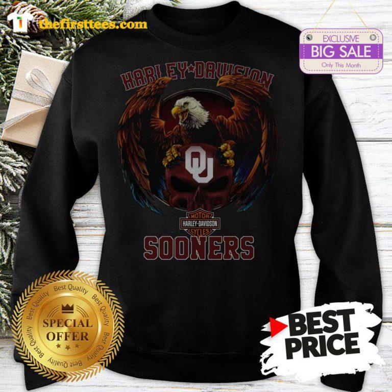 Top Eagle Harley Davidson Oklahoma Sooners Sweatshirt- Design by Thefristtees.com