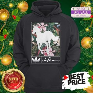 Wonderful Adidas Deftones Horse Floral Hoodie