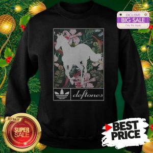 Wonderful Adidas Deftones Horse Floral Sweatshirt