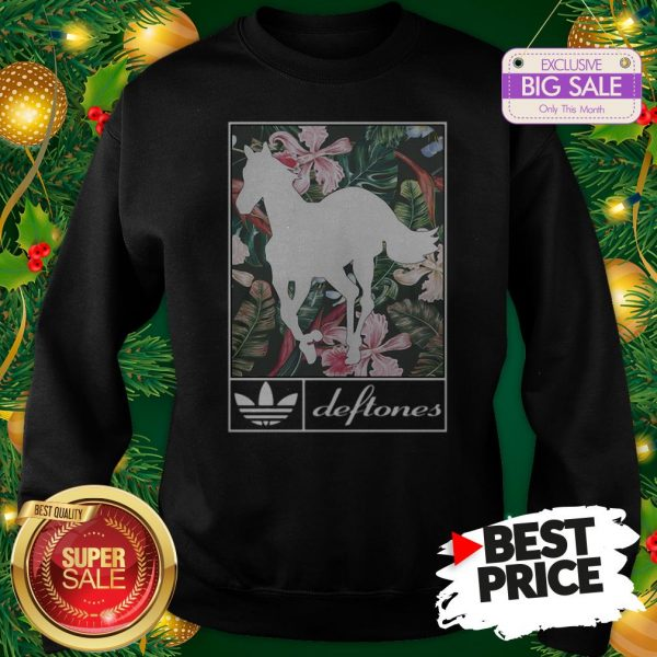 Wonderful Adidas Deftones Horse Floral Sweatshirt