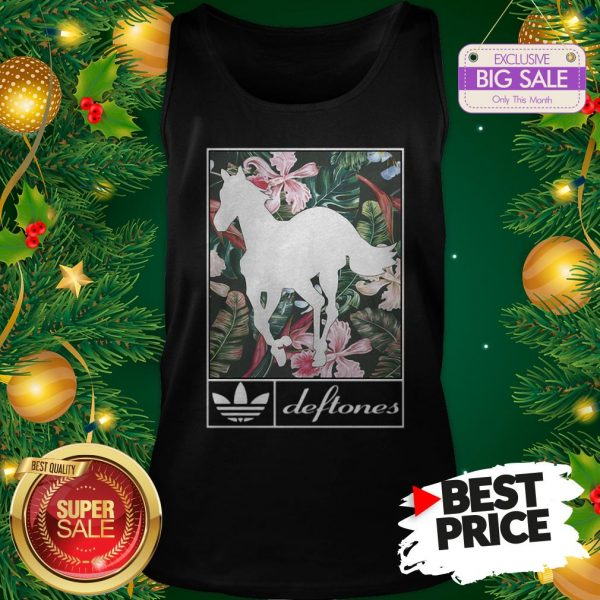 Wonderful Adidas Deftones Horse Floral Tank Top