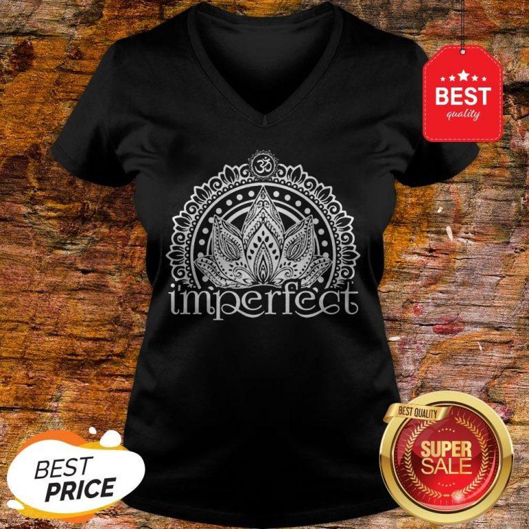 Funny I'mperfect Mandala V-Neck