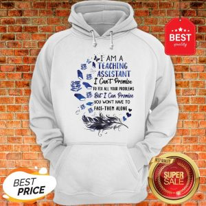 I Am A Teaching Assistant I Can't Promise To Fix All Your Problems But I Can Promise You Won't Have To Face Them Alone Hoodie