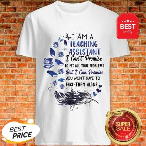 I Am A Teaching Assistant I Can't Promise To Fix All Your Problems But I Can Promise You Won't Have To Face Them Alone Shirt