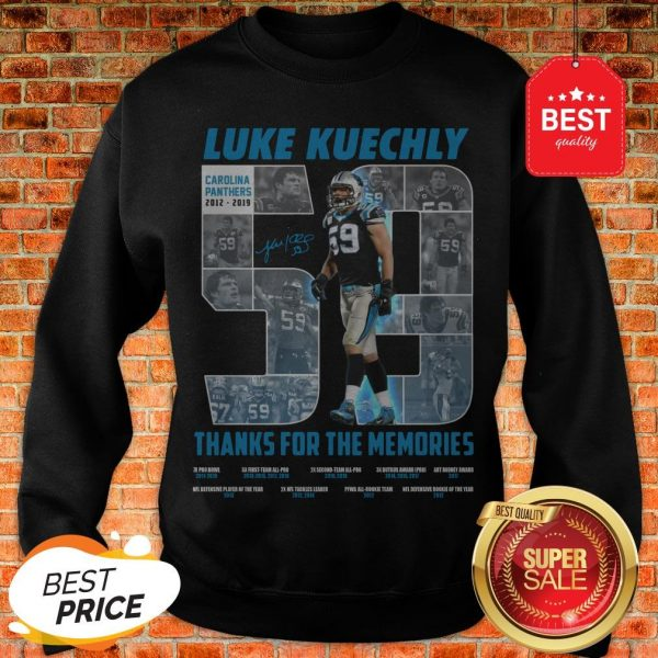 Luke Kuechly 59 Thanks For The Memories Sweatshirt