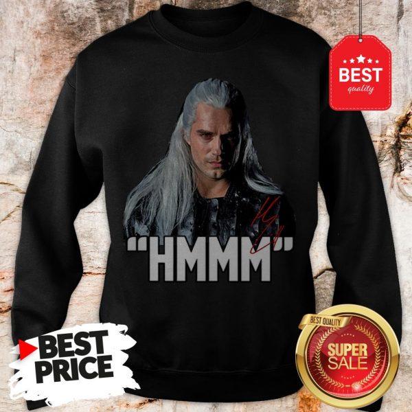 Official Hot Men The Witcher Hmmm Geralt Of Rivia Signature Sweatshirt