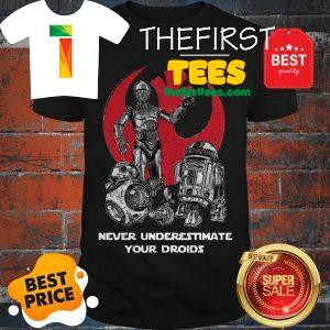 Official Never Underestimate Your Droids Star Wars Shirt