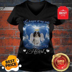 Official Sky Cavalier King Charles Spaniel Angel No Longer At My Side Heart V-Neck