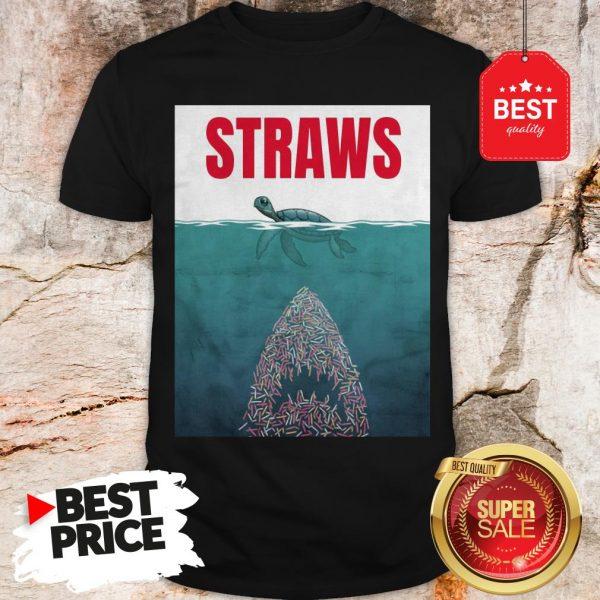 Official Straws ParOfficial Straws Parody Jaws Shirtody Jaws Shirt