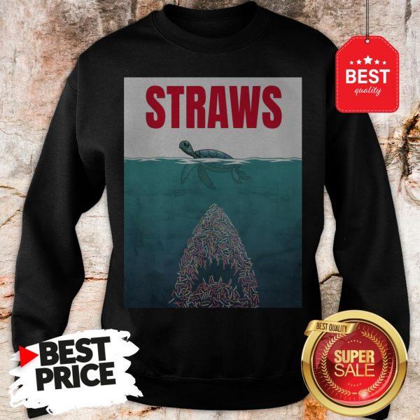 Official Straws ParOfficial Straws Parody Jaws Shirtody Jaws Sweatshirt