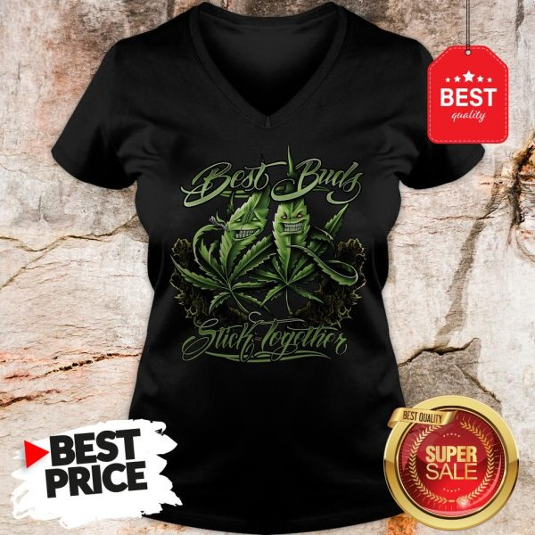 Official Weed Cannabis Best Buds Stick Together V-Neck