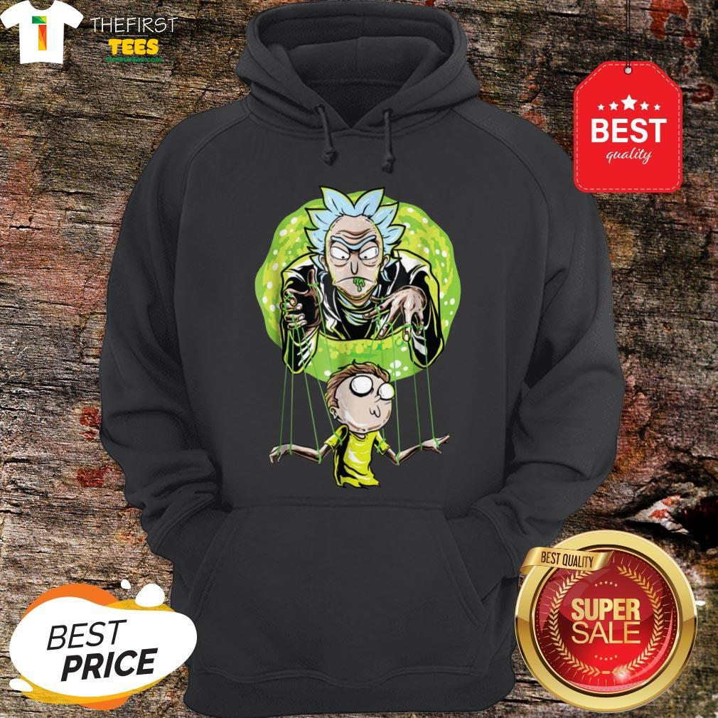 Rick And Morty Puppet And Space Portal Hoodie