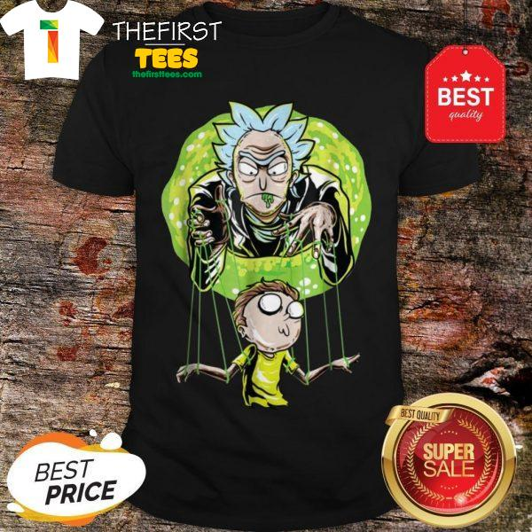 Rick And Morty Puppet And Space Portal Shirt