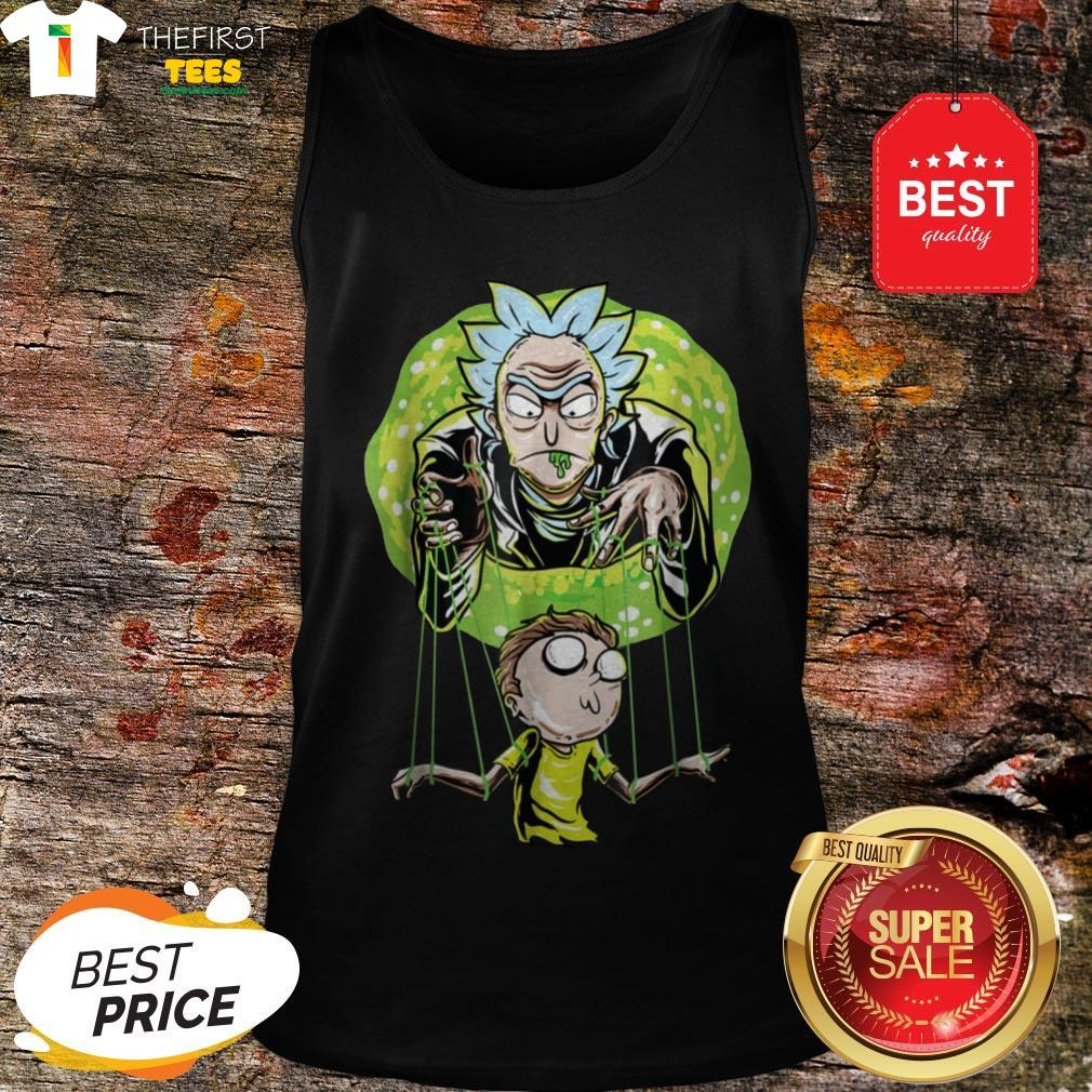 Rick And Morty Puppet And Space Portal Tank Top