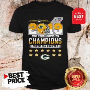 Top Go Pack Go 2019 NFC North Division Champions Green Bay Packers Shirt
