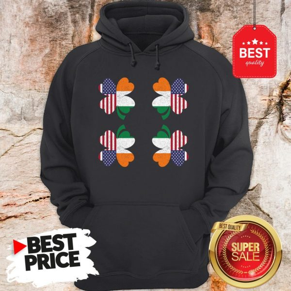 Very Saint Patricks Day Irish Four Leaf Clover Ireland American Hoodie