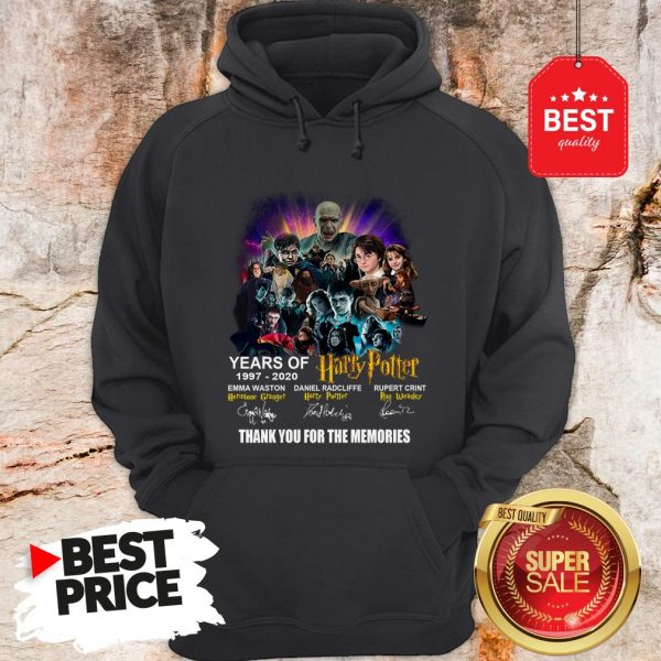 Years Of 1997 2020 Harry Potter Signature Thank For The Emories Hoodie