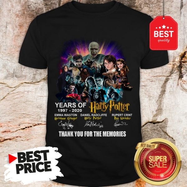 Years Of 1997 2020 Harry Potter Signature Thank For The Emories Shirt