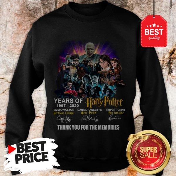 Years Of 1997 2020 Harry Potter Signature Thank For The Emories Sweatshirt