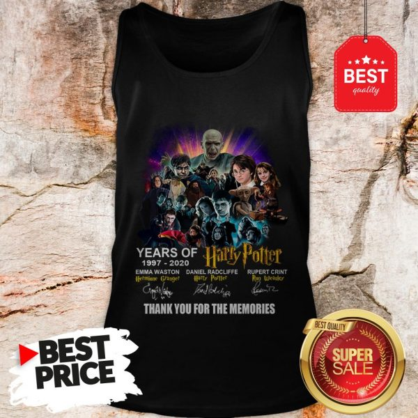 Years Of 1997 2020 Harry Potter Signature Thank For The Emories Tank Top