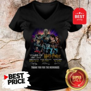 Years Of 1997 2020 Harry Potter Signature Thank For The Emories V-Neck