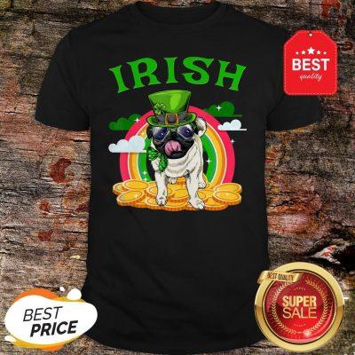 Irish Pug Funny St Patricks Day Leprechaun Dog Shirt