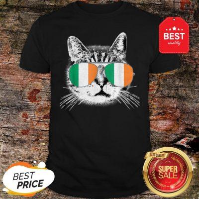 Irish Flag Cat St. Patrick's Day Catrick's Cattys Womens Men Shirt