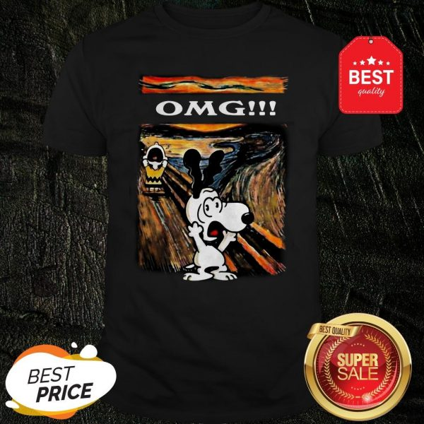 Snoopy And Charlie Brown The Scream Omg Van Gogh Shirt