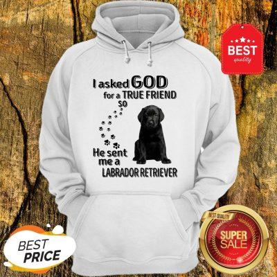 I Asked God For A True Friend So He Sent Me A Labrador Retriever Hoodie