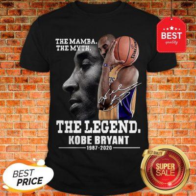 Official The Mamba The Myth The Legend Kobe Bryant 1987-2020 Shirt