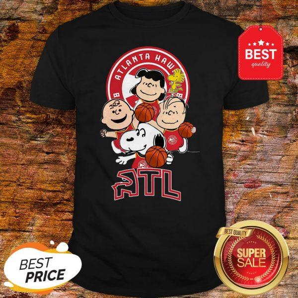 Official The Peanut Atlanta Hawks Basketball Club Atl Shirt