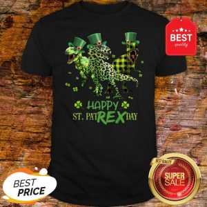 Official T-rex Happy St. Patrex Day St. Patrick's Day Shirt