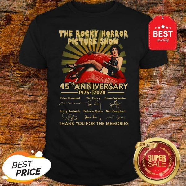 The Rocky Horror Picture Show 45th Anniversary 1975-2020 Signature Shirt