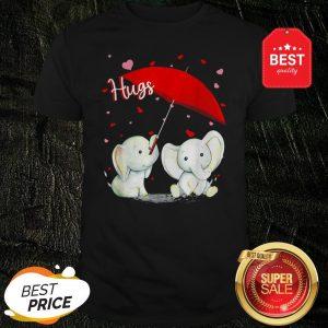 Official Valentine Elephant Hugs Shirt
