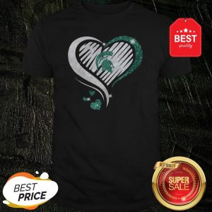 Official Michigan State Spartan Diamond Heart Shirt