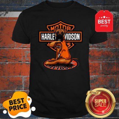 Official Pitbull Tattoo Harley Davidson Motor Shirt