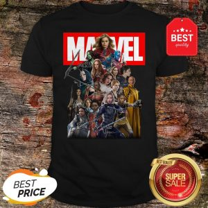 Official Marvel Avengers Woman MCU Signatures Shirt