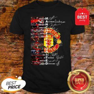 Official Manchester United Signatures David Beckham Alex Ferguson Vidic Shirt