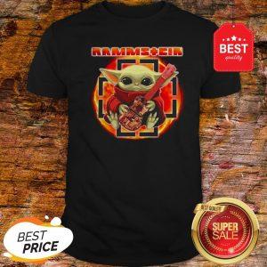 Official Rammstein Mashup Baby Yoda Guitar Star Wars Shirt