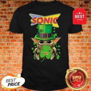 Baby Yoda Sonic Shamrock St. Patrick's Day Star Wars Shirt